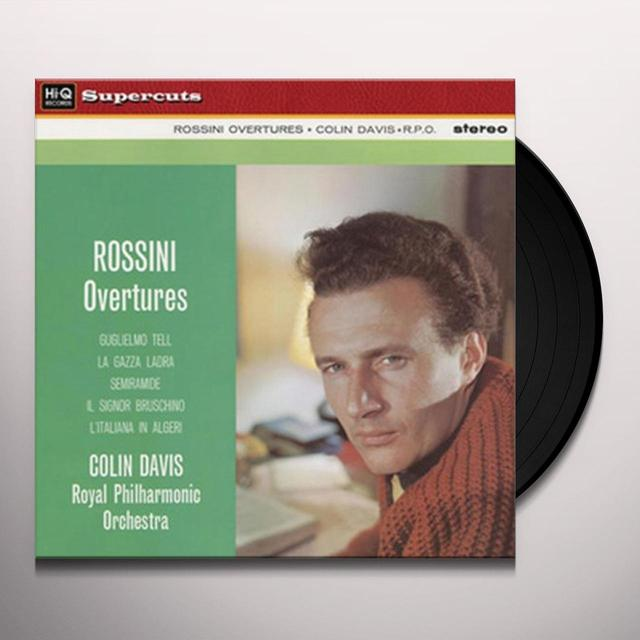 Sir Colin / Royal Philharmonic Orchestra Davis ROSSINI OVERTURES Vinyl Record - 180 Gram Pressing