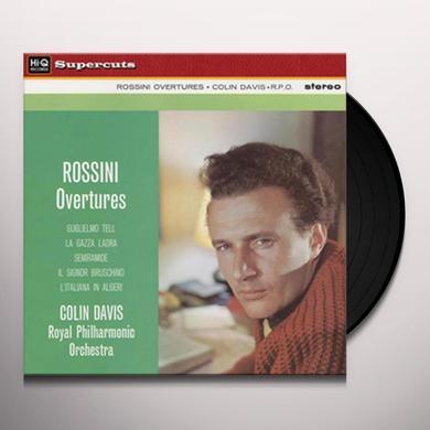 Sir Colin / Royal Philharmonic Orchestra Davis ROSSINI OVERTURES Vinyl Record - 180 Gram Pressing