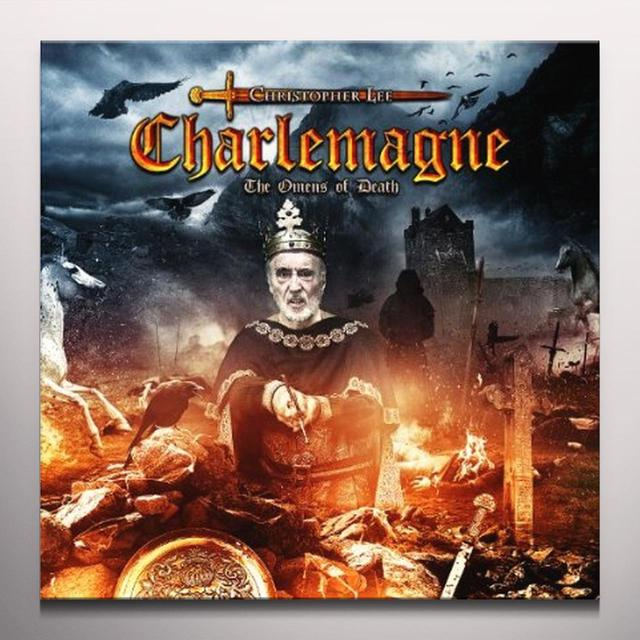 Christopher Lee CHARLEMAGNE: OMENS OF DEATH Vinyl Record - Clear Vinyl