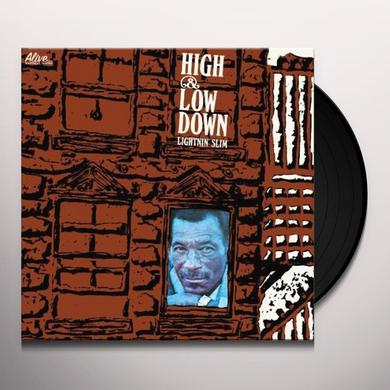 Lightnin Slim HIGH & LOWDOWN Vinyl Record