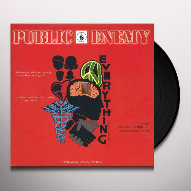 Public Enemy EVERYTHING / I SHALL NOT BE MOVED Vinyl Record - Limited Edition