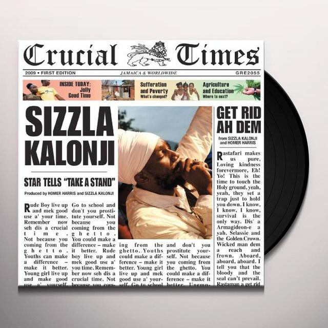Sizzla CRUCIAL TIMES Vinyl Record