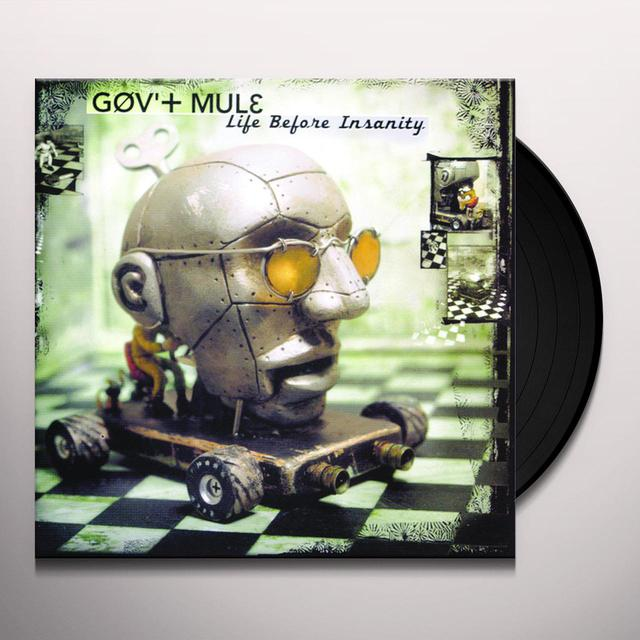 Govt Mule LIFE BEFORE INSANITY Vinyl Record