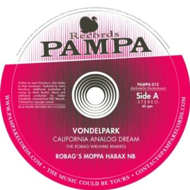 Vondelpark CALIFORNIA ANALOG DREAM: THE ROBAG WRUHME REMIXES Vinyl Record