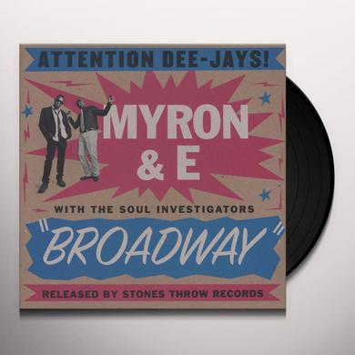 Myron & E With The Soul Investigators BROADWAY Vinyl Record