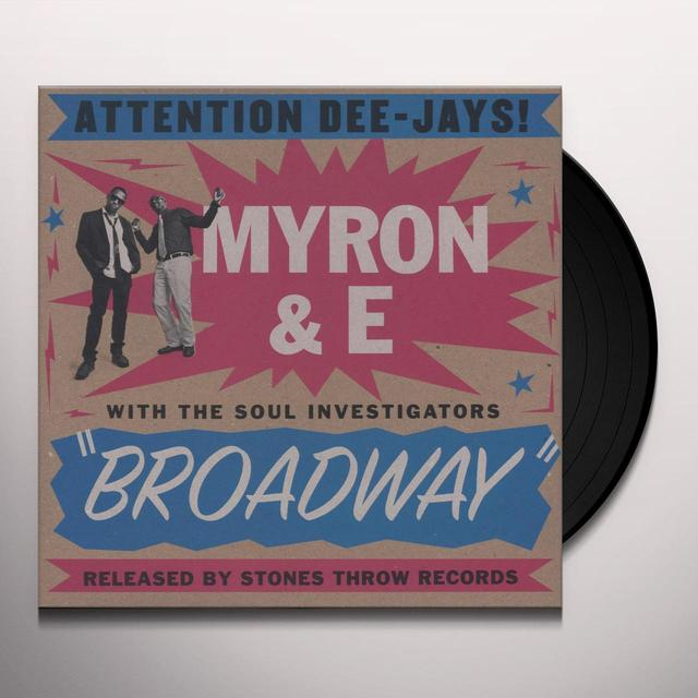 Myron & E With The Soul Investigators BROADWAY (WSV) Vinyl Record - Digital Download Included
