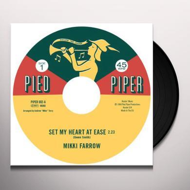 Mikki Farrow / September Jones SET MY HEART AT EASE / I'M COMIN HOME Vinyl Record