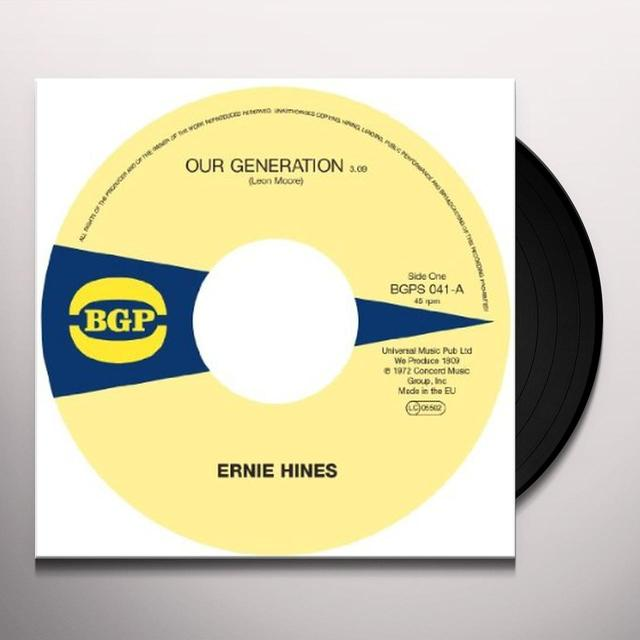 Ernie / The Blackbyrds Hines OUR GENERATION / ROCK CREEK PARK Vinyl Record