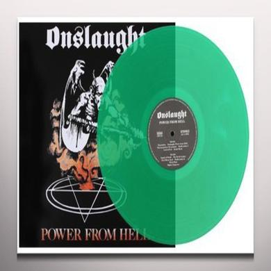 Onslaught POWER FROM HELL Vinyl Record - Colored Vinyl