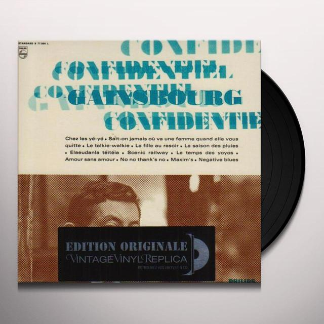 Serge Gainsbourg CONFIDENTIEL Vinyl Record - 180 Gram Pressing