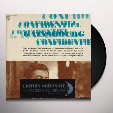 Serge Gainsbourg CONFIDENTIEL Vinyl Record