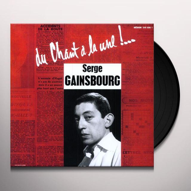 Serge Gainsbourg DU CHANT A LA UNE (FRA) Vinyl Record