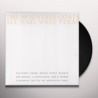 The Mountain Goats ALL HAIL WEST TEXAS Vinyl Record - Digital Download Included