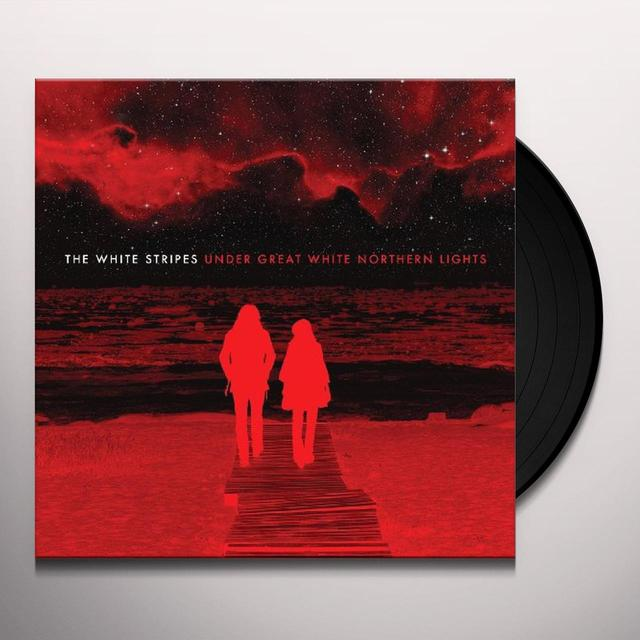 The White Stripes UNDER GREAT WHITE NORTHERN LIGHTS Vinyl Record - UK Import