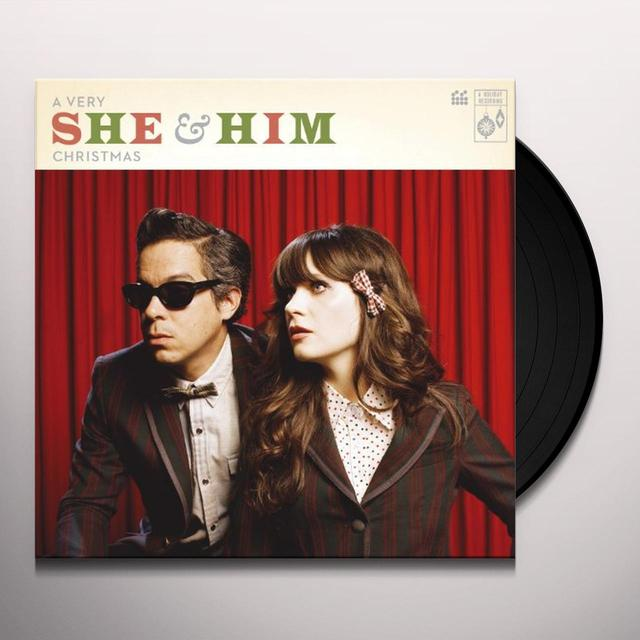 VERY SHE & HIM CHRISTMAS Vinyl Record - UK Release