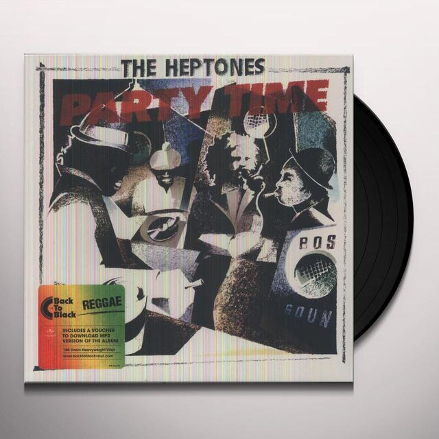 The Heptones PARTY TIME Vinyl Record - Holland Release