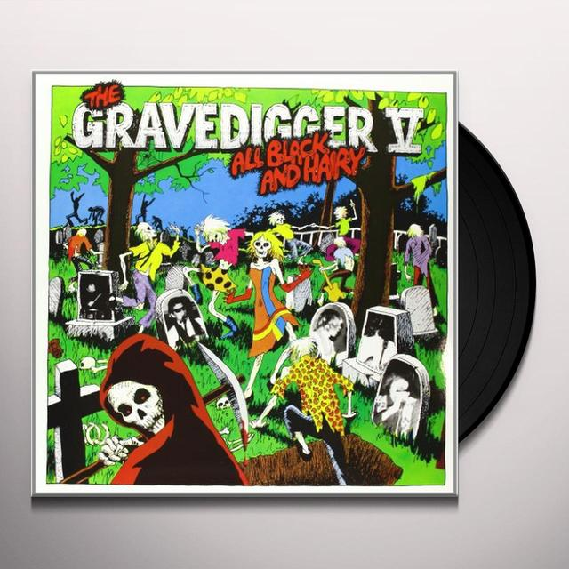 Gravedigger V ALL BLACK & HAIRY Vinyl Record
