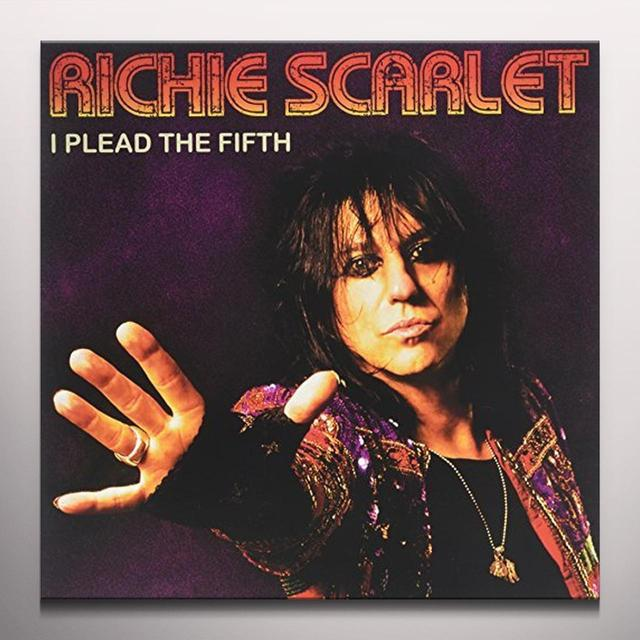 Richie Scarlet PLEAD THE FIFTH Vinyl Record - Colored Vinyl