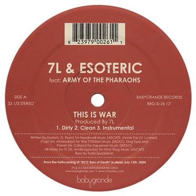 7L & Esoteric THIS IS WAR Vinyl Record
