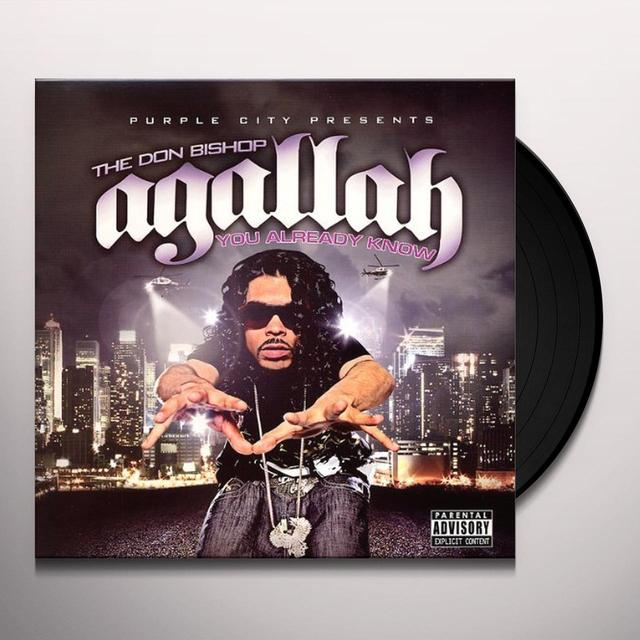 Agallah YOU ALREADY KNOW Vinyl Record