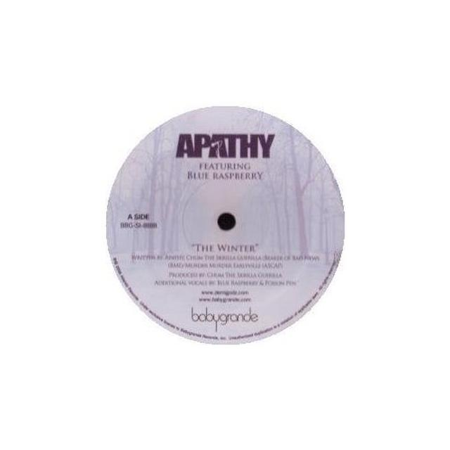 Apathy WINTER / CAN'T LEAVE RAP ALONE Vinyl Record