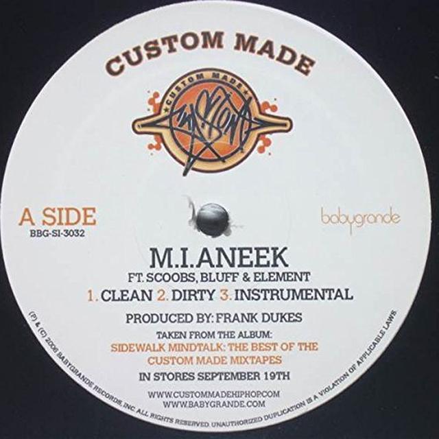 Custom Made M.I.ANEEK / GO AWAY Vinyl Record