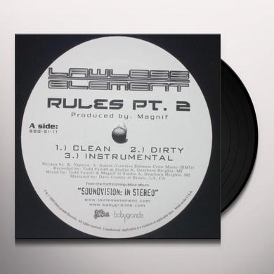 Lawless Element RULES 2 / LOVE Vinyl Record