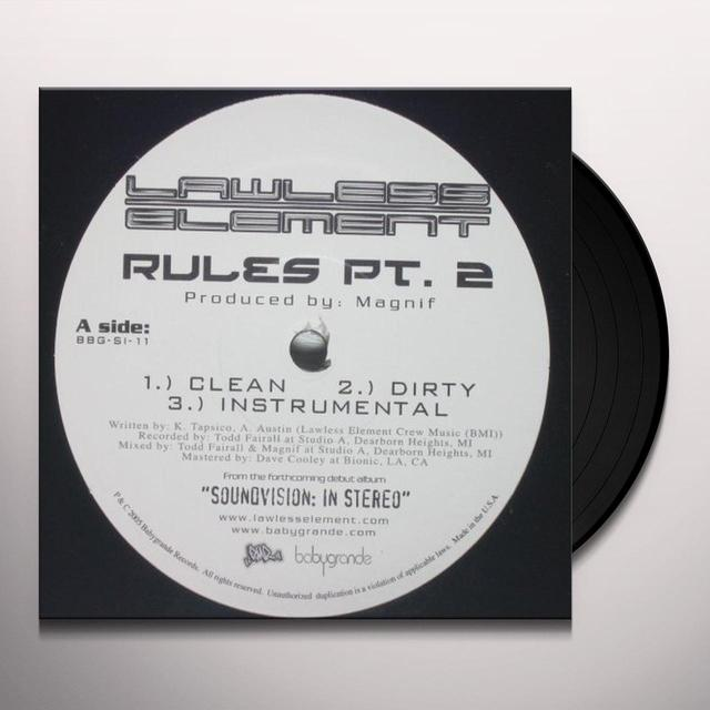 Lawless Element RULES 2 / LOVE Vinyl Record