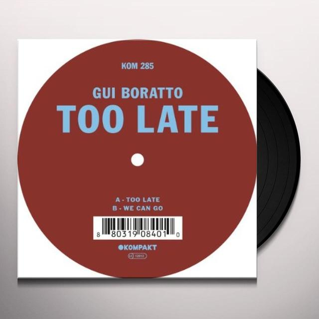 Gui Boratto TOO LATE Vinyl Record