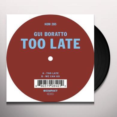 Gui Boratto TOO LATE (EP) Vinyl Record