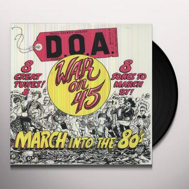 Doa WAR ON 45 Vinyl Record
