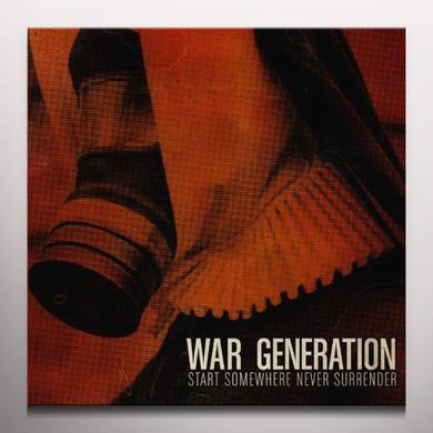 War Generation START SOMEWHERE NEVER SURRENDER (BONUS CD) Vinyl Record - Colored Vinyl