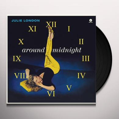 Julie London AROUND MIDNIGHT (BONUS TRACK) Vinyl Record - 180 Gram Pressing