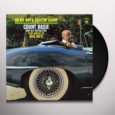 Count Basie ON MY WAY & SHOUTIN AGAIN (BONUS TRACK) Vinyl Record - 180 Gram Pressing