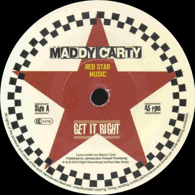 Maddy Carty GET IT RIGHT Vinyl Record - Limited Edition
