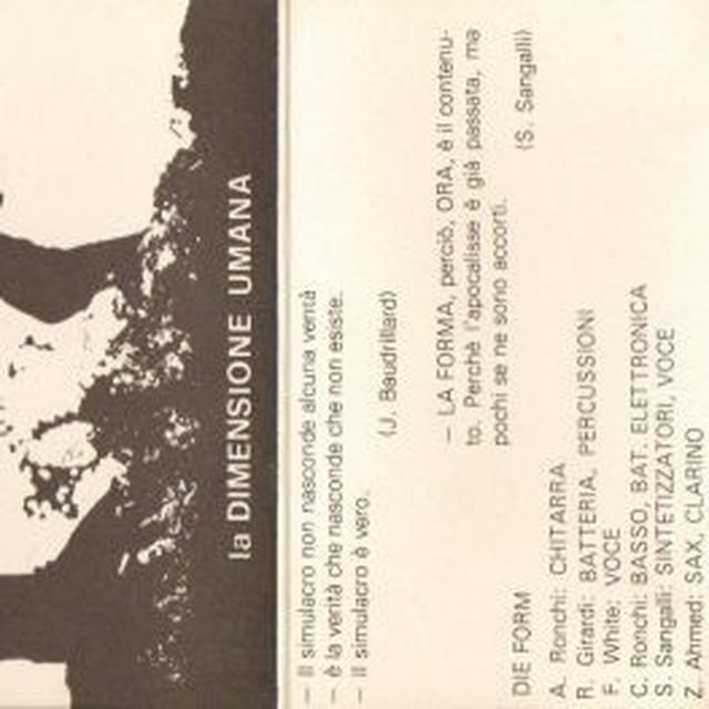 Die Form LA DIMENSIONE UMANA Vinyl Record