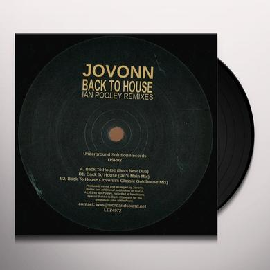 Jovonn BACK TO HOUSE: IAN POOLEY REMIXES Vinyl Record