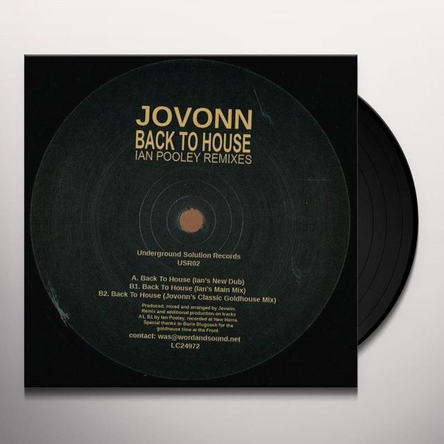 Jovonn BACK TO HOUSE: IAN POOLEY REMIXES Vinyl Record - Remixes