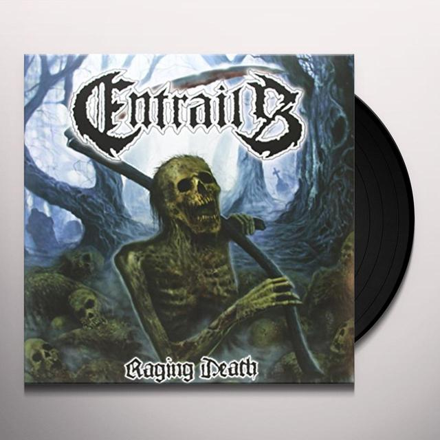 Entrails RAGING DEATH Vinyl Record - Holland Import