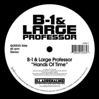 B-1 & Large Professor / O.C. & The Beatminerz HANDS OF TIME B/W SPITGAME Vinyl Record