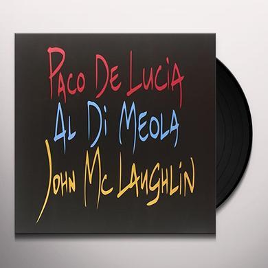Paco Delucia / Al Dimeola / John Mclaughlin GUITAR TRIO Vinyl Record - 180 Gram Pressing, Deluxe Edition
