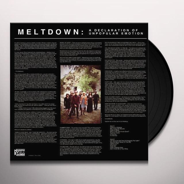 Jail Weddings MELTDOWN / DECLARATION OF UNPOPULAR EMOTION Vinyl Record