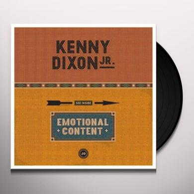 Kenny Dixon EMOTIONAL CONTENT Vinyl Record