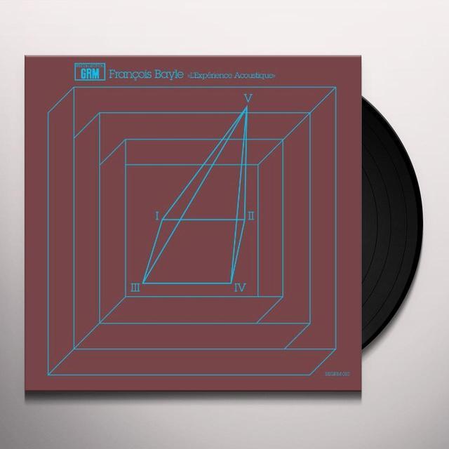 Francois Bayle L'EXPERIENCE ACOUSTIQUE Vinyl Record