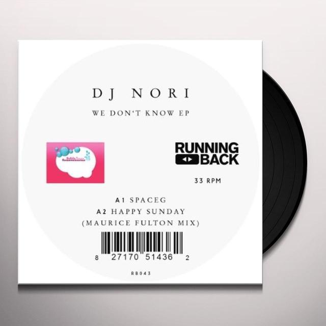 Dj Nori WE DONT KNOW (EP) Vinyl Record