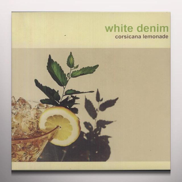 White Denim CORSICANA LEMONADE Vinyl Record - Colored Vinyl, Limited Edition, Yellow Vinyl