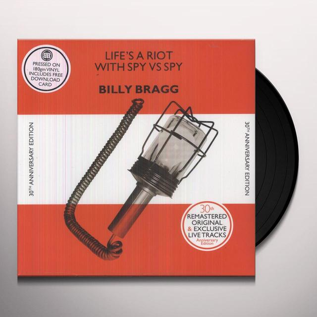 Billy Bragg LIFE'S A RIOT (30TH ANNIVERSARY EDITION) Vinyl Record - Anniversary Edition