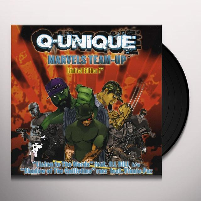 Q-Unique LISTEN TO THE WORDS / SHADOWS OF THE GUILLOTINE Vinyl Record