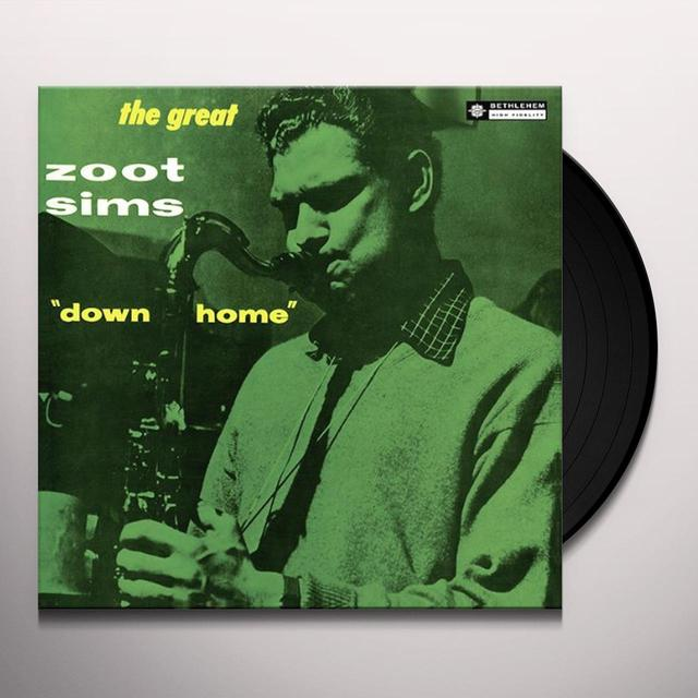 Zoot Sims DOWN HOME Vinyl Record