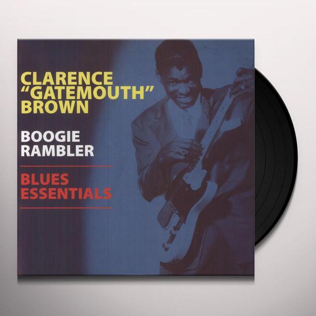 Clarence Brown BOOGIE RAMBLER - BLUES ESSENTIALS Vinyl Record